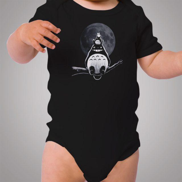 Totoro Friend On The Moon Baby Onesie