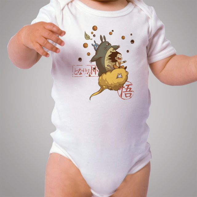 Totoro Goku Dragon Ball Baby Onesie