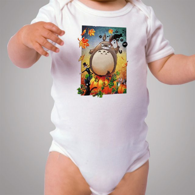 Totoro Halloween Pumpkin Baby Onesie