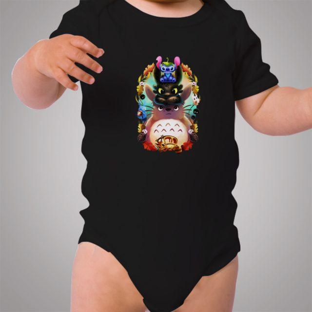 Totoro Lilo Stitch Collaboration Cute Baby Onesie