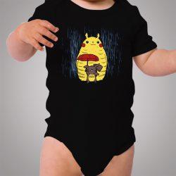 Totoro Pokemon Pikachu Winter Season Baby Onesie