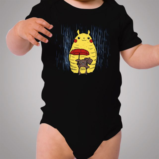Totoro Pokemon Pikachu Winter Season Baby Onesie