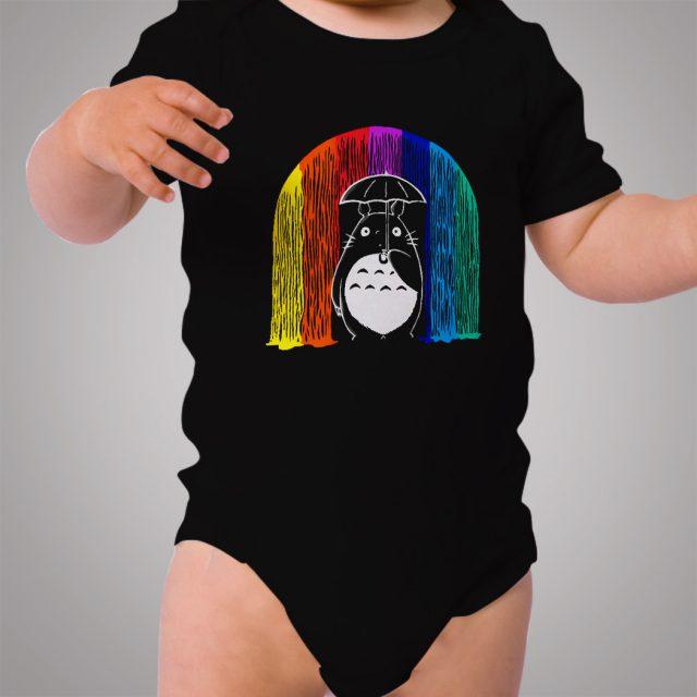 Totoro Rainbow Rain Baby Onesie Bodysuit