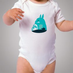 Totoro Silhouette Funny Baby Onesie Bodysuit