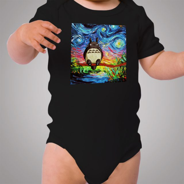 Totoro Starry Night Art Baby Onesie Bodysuit