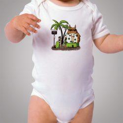 Totoro Summer Beach Holiday Baby Onesie