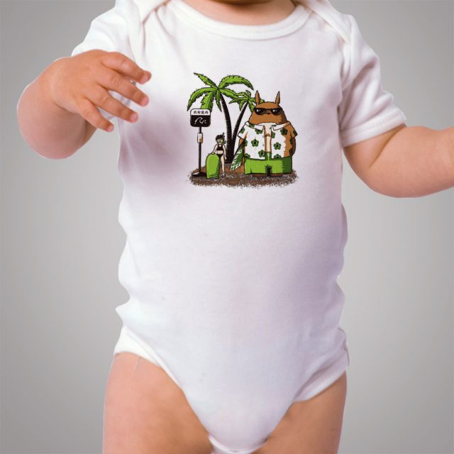 Totoro Summer Beach Holiday Baby Onesie