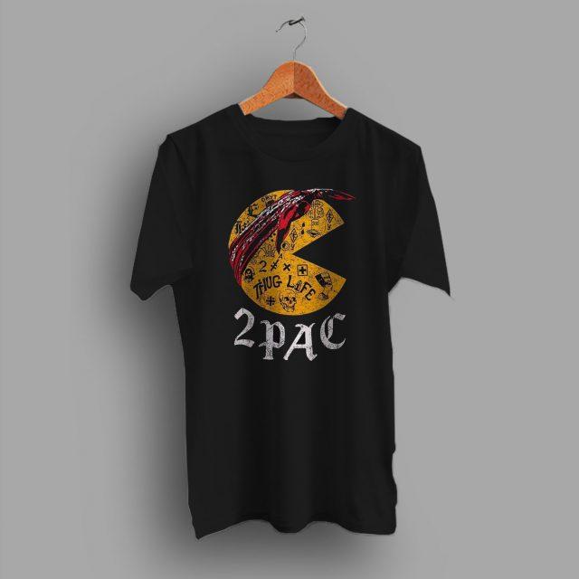 Tupac Pac Man Hip Hop Parody T Shirt