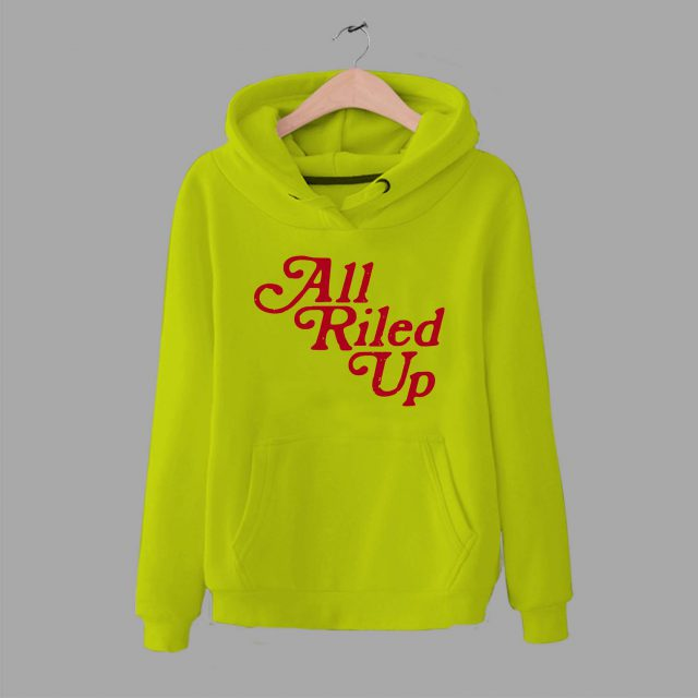 Vintage All Riled Up Quote Unisex Hoodie