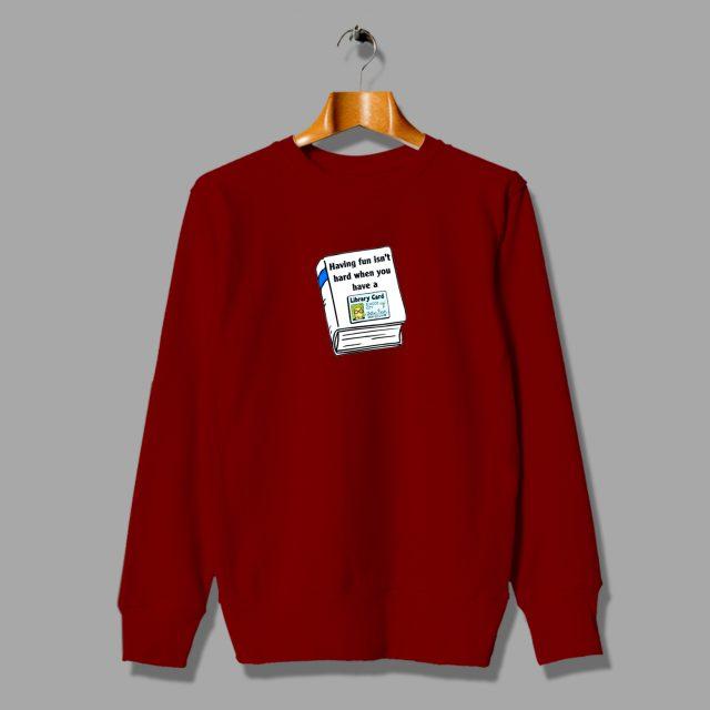 Vintage Arthur Library Card Unisex Sweatshirt