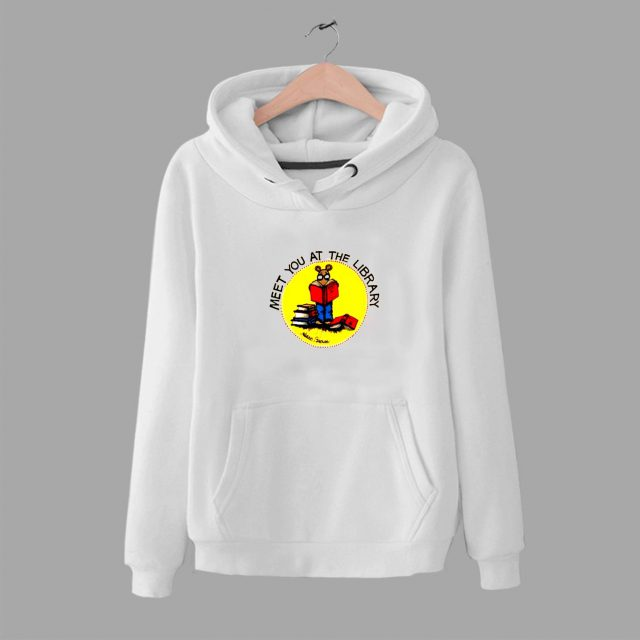 Vintage Cartoon Arthur Meet You The Library Hoodie