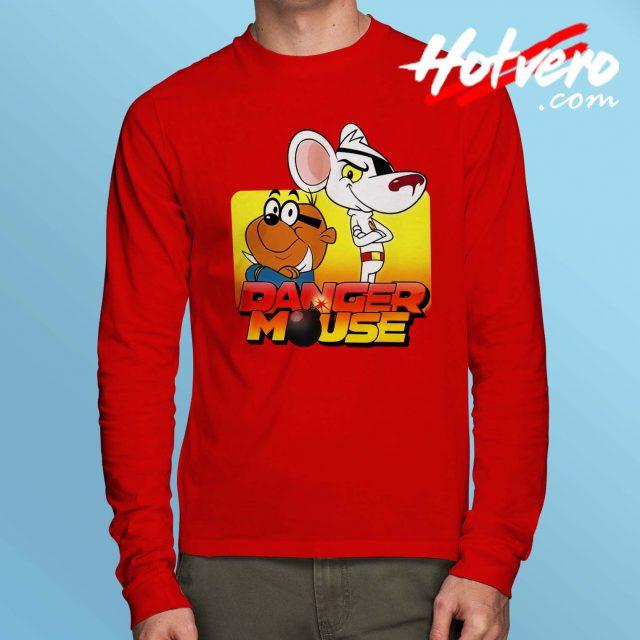 Vintage Cartoon Danger Mouse Long Sleeve Shirt