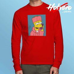 Vintage Cozy Bart Simpson Long Sleeve Shirt