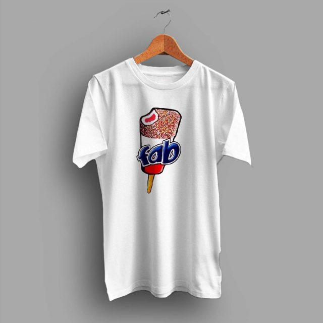 Vintage Fab Ice Cream Lolly Summer T Shirt