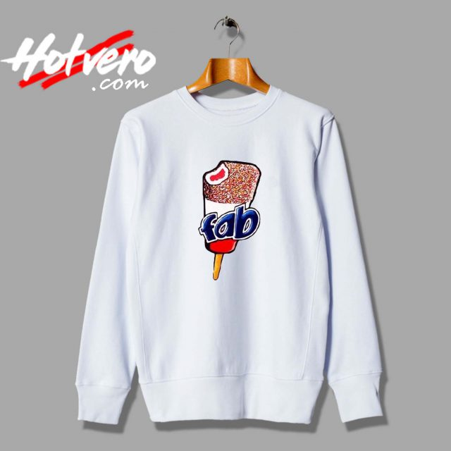 Vintage Fab Ice Cream Lolly Unisex Sweatshirt