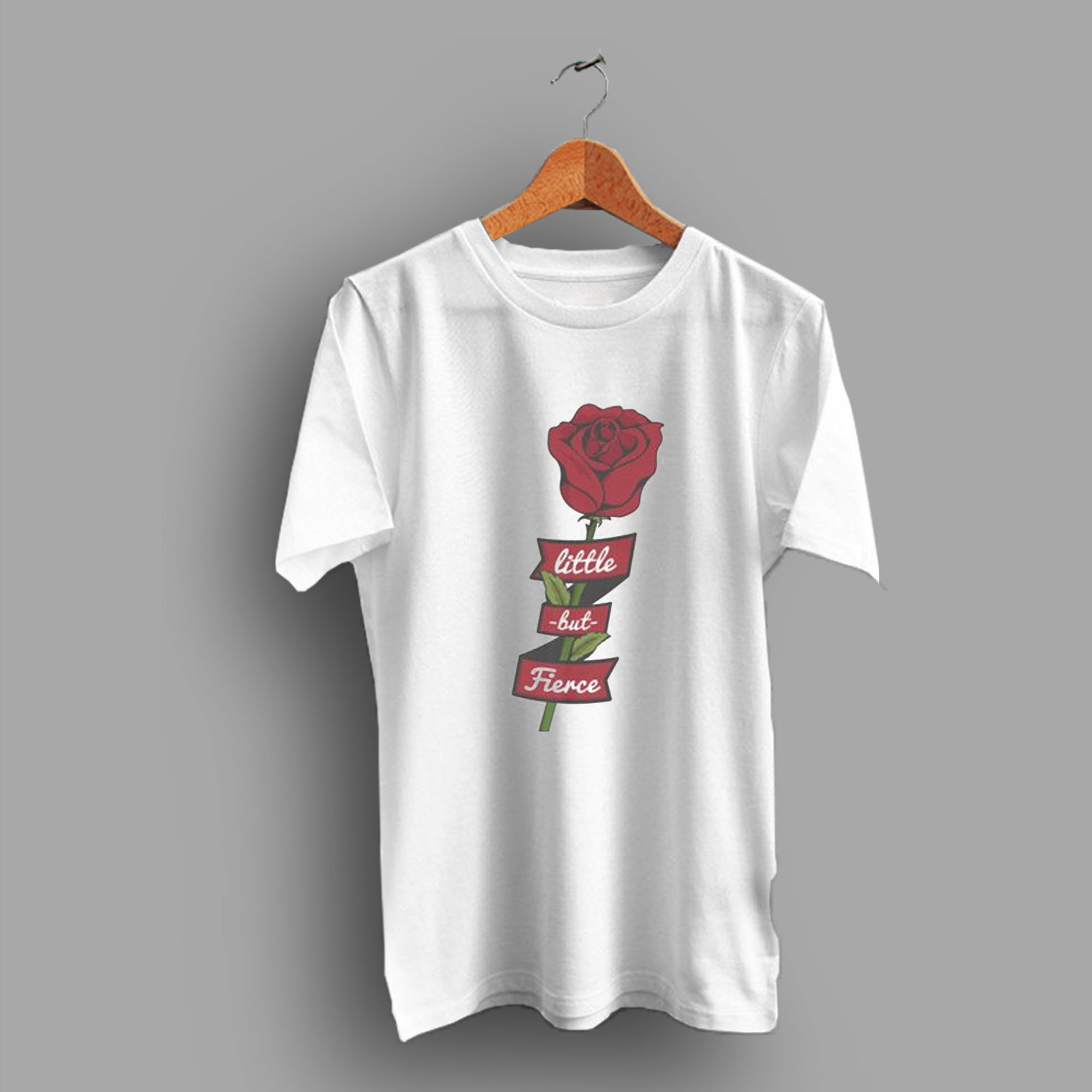 1e865ddaa62 Vintage Feminist Hipster Little But Fierce Rose 80's T Shirt