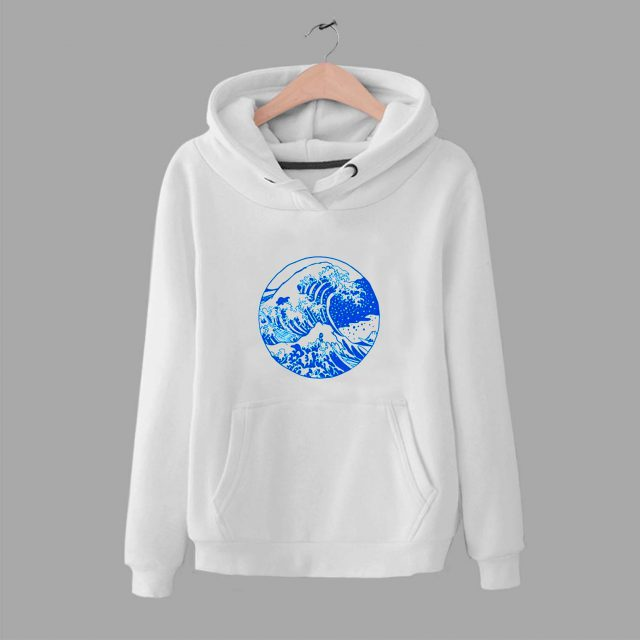 Vintage Great Wave Off Kanagawa Unisex Hoodie