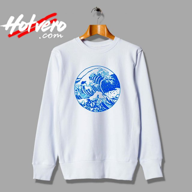 Vintage Great Wave Off Kanagawa Unisex Sweatshirt