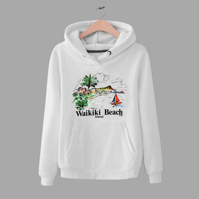 Vintage Hawaiian Wakiki Beach Unisex Hoodie