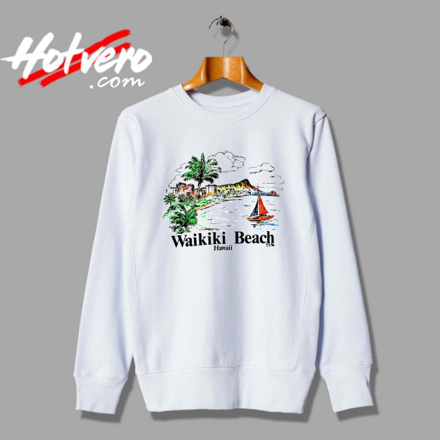 Vintage Hawaiian Wakiki Beach Unisex Sweatshirt