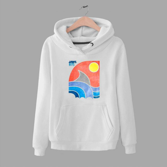 Vintage Jaws 1975 Colored Beach Unisex Hoodie