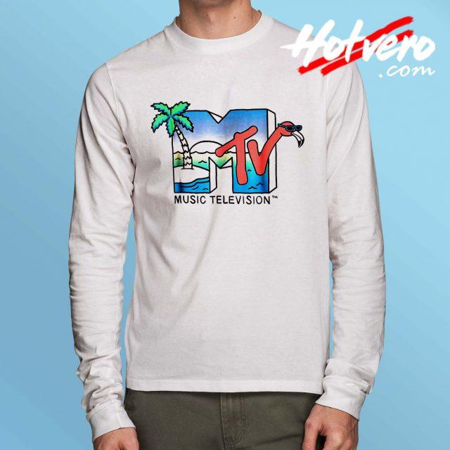 Vintage MTV Beach Island Flamingo Long Sleeve Shirt