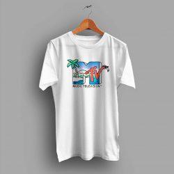 Vintage MTV Beach Island Flamingo Summer T Shirt