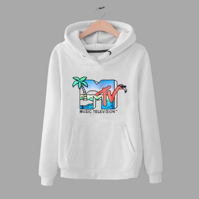 Vintage MTV Beach Island Flamingo Unisex Hoodie