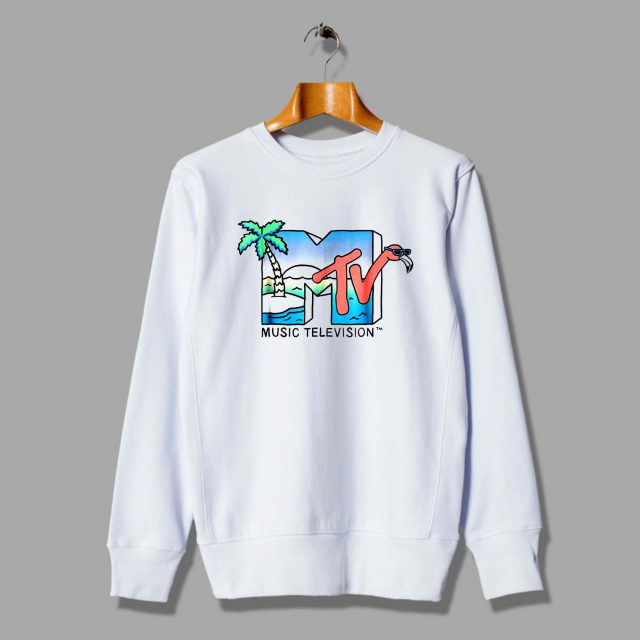 Vintage MTV Beach Island Flamingo Unisex Sweatshirt