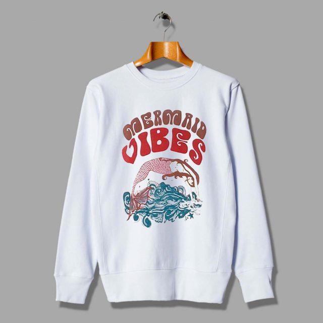 Vintage Mermaid Vibes Unisex Sweatshirt