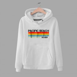 Vintage Pacific Beach City Postal Code 92109 Hoodie
