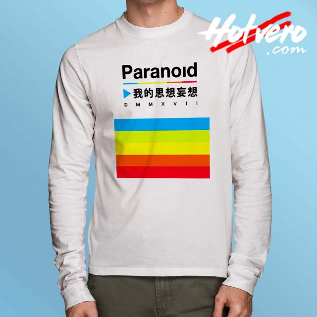 Vintage Paranoid Color Pallet Long Sleeve T Shirt