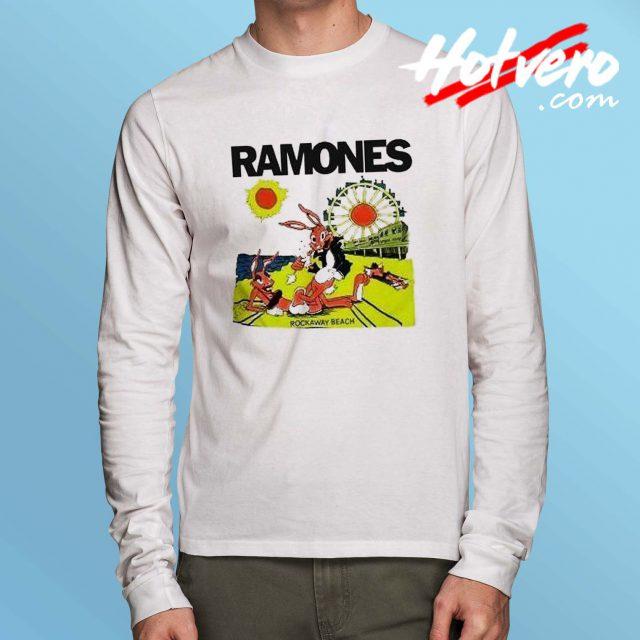 Vintage Ramones Rockaway Beach Long Sleeve Shirt