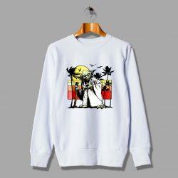 Vintage Star Wars Yoda Sunset Beach Sweatshirt