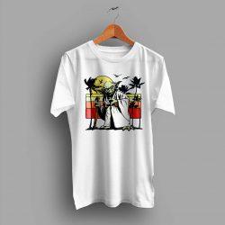 Vintage Star Wars Yoda Sunset Beach T Shirt