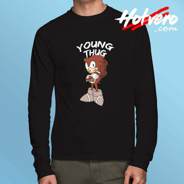 Young Thug Sonic Parody Long Sleeve Shirt