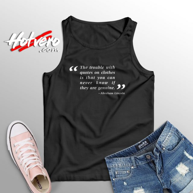 Abraham Lincoln Nerd Quote Cute Tank Top