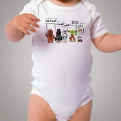 All Star Wars Character Quote Baby Onesie