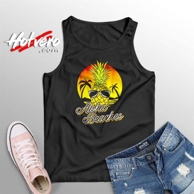 Aloha Beaches Pineapple Summer Tank Top