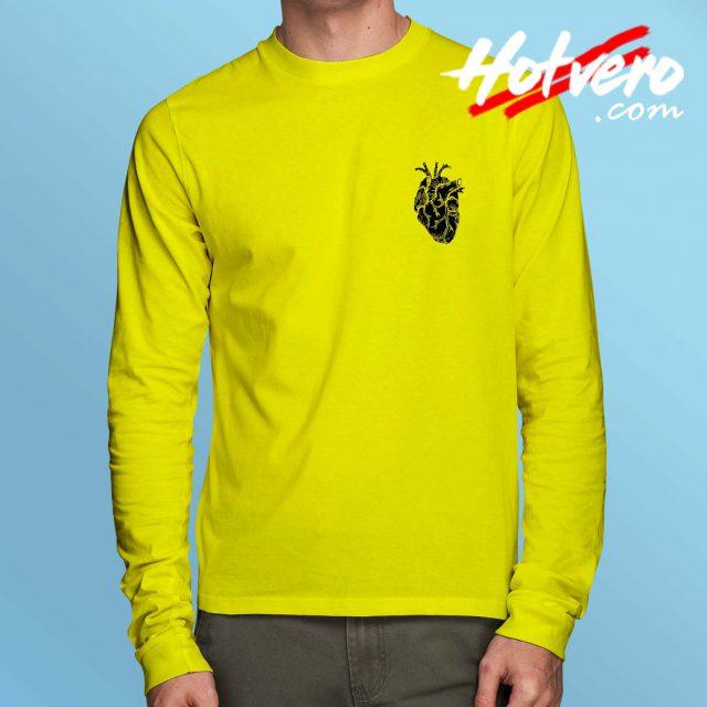 Anatomical Heart Long Sleeve T Shirt