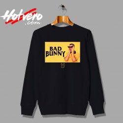 Bad Bunny Black And Yellow Custom Sweatshirt