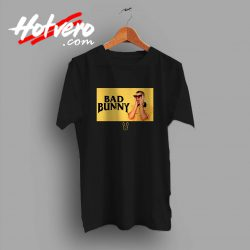 Bad Bunny Black And Yellow Custom T Shirt