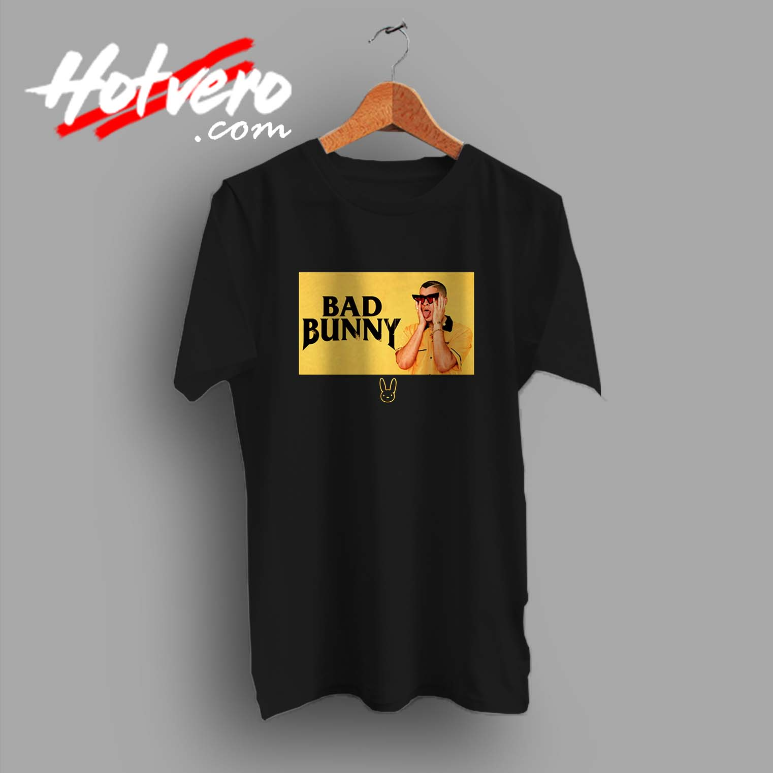 3049992f17 Bad Bunny Black And Yellow Custom T Shirt - Hotvero