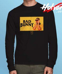 Bad Bunny Black And Yellow Long Sleeve T Shirt
