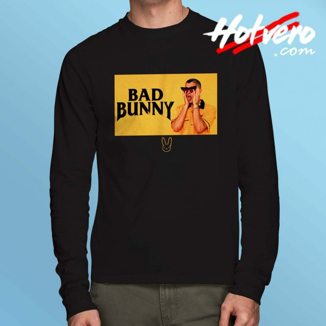 Bad Bunny Black And Yellow Long Sleeve T Shirt