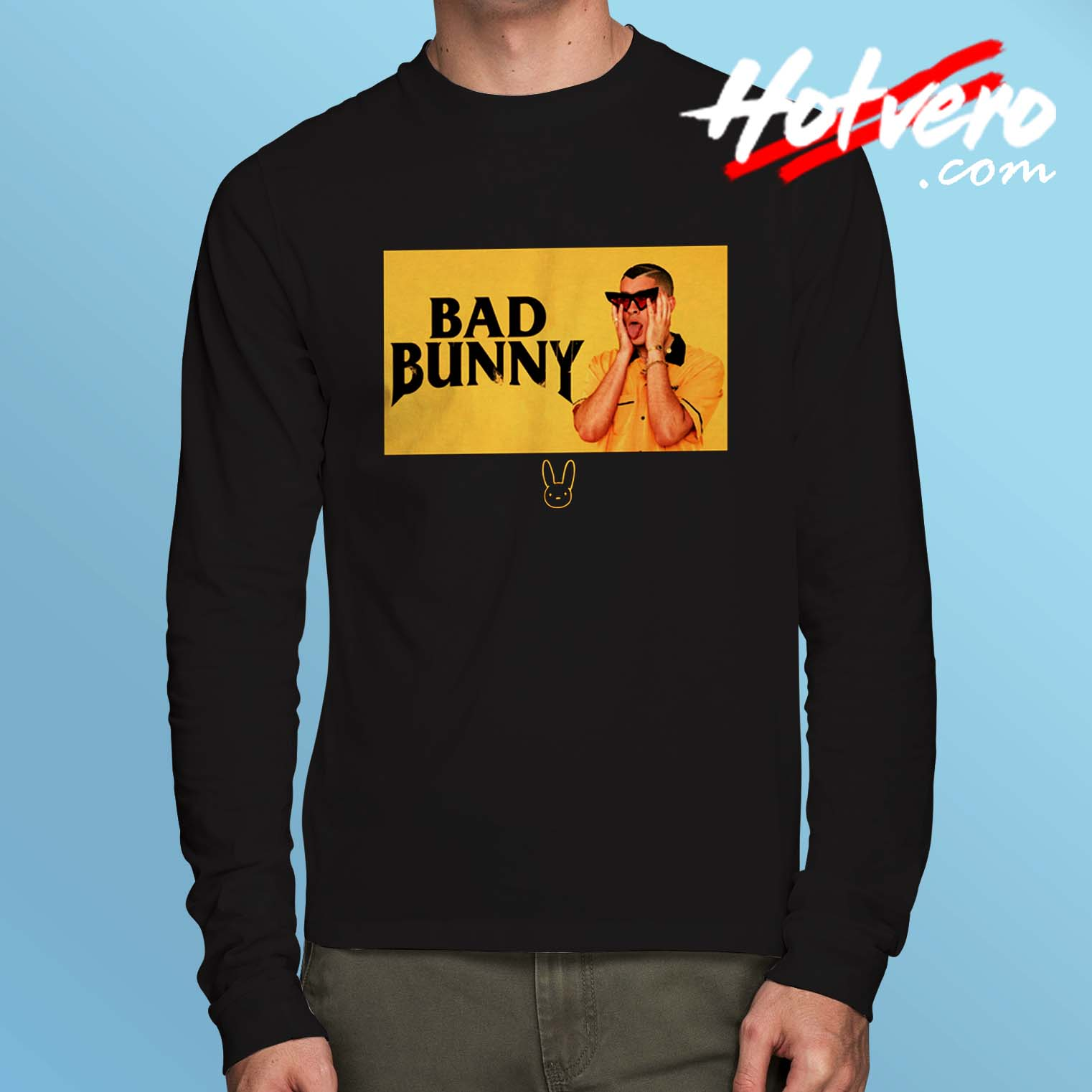 4a405feaa0 Bad Bunny Black And Yellow Long Sleeve T Shirt - Hotvero.com