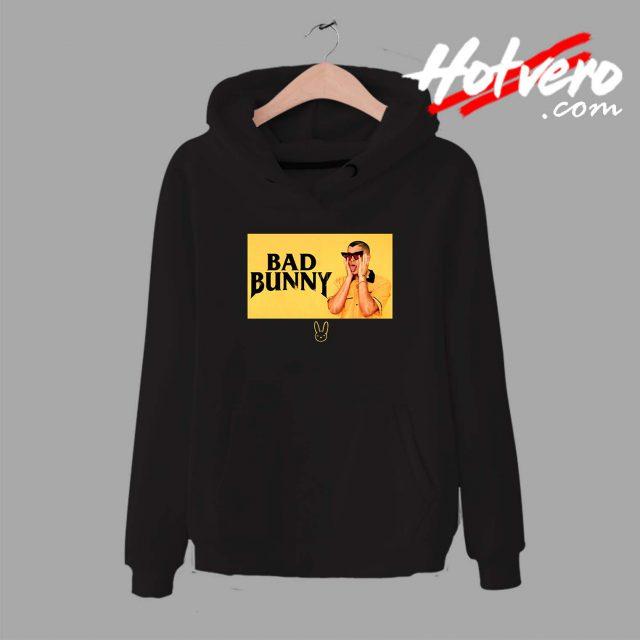 Bad Bunny Black And Yellow Unisex Hoodie