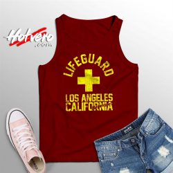 Baywatch Lifeguard Los Angeles California Tank Top