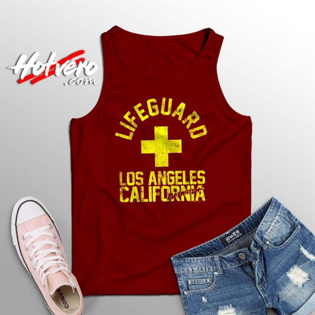 Baywatch Lifeguard Los Angeles California Tank Top