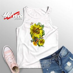 Beautiful Sunflower Summer Tank Top